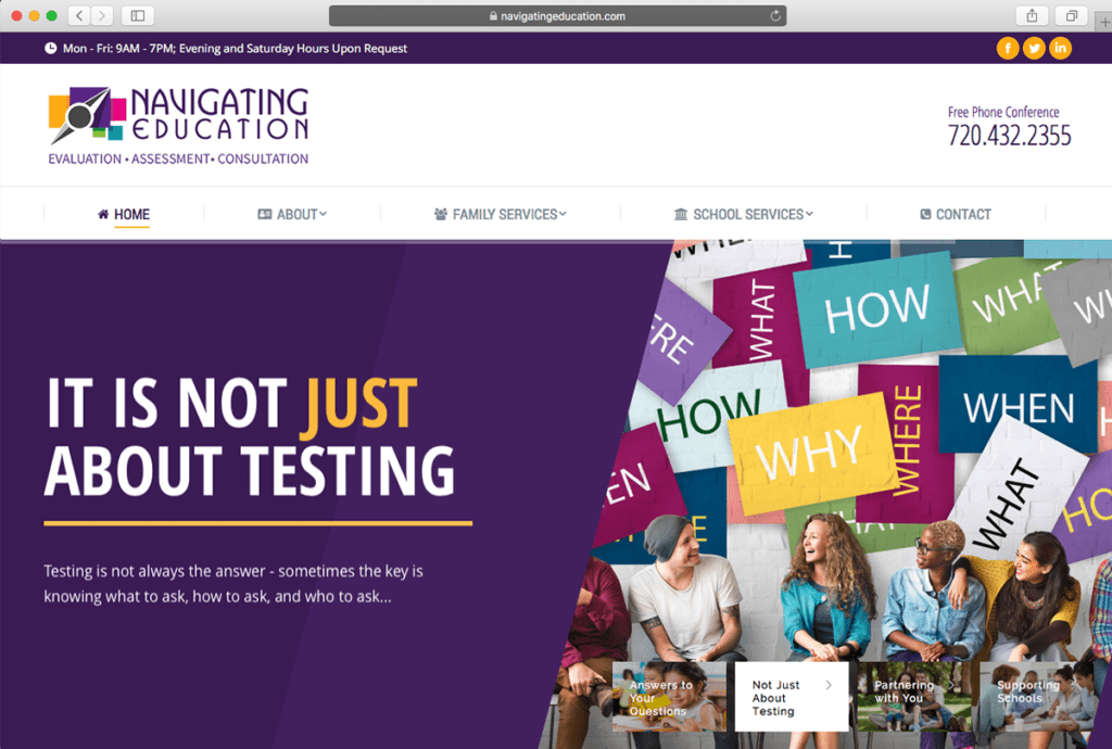 navigating education website