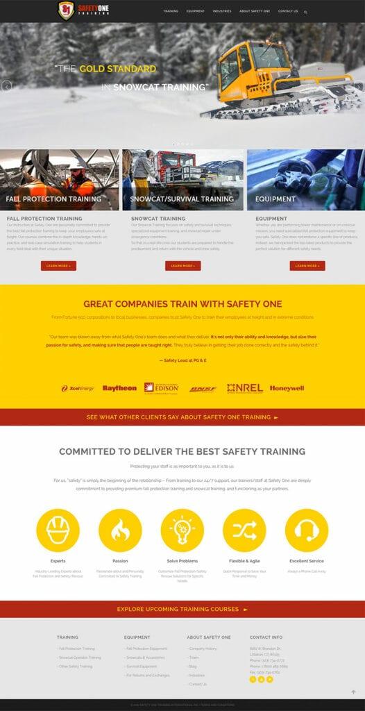 business service website development