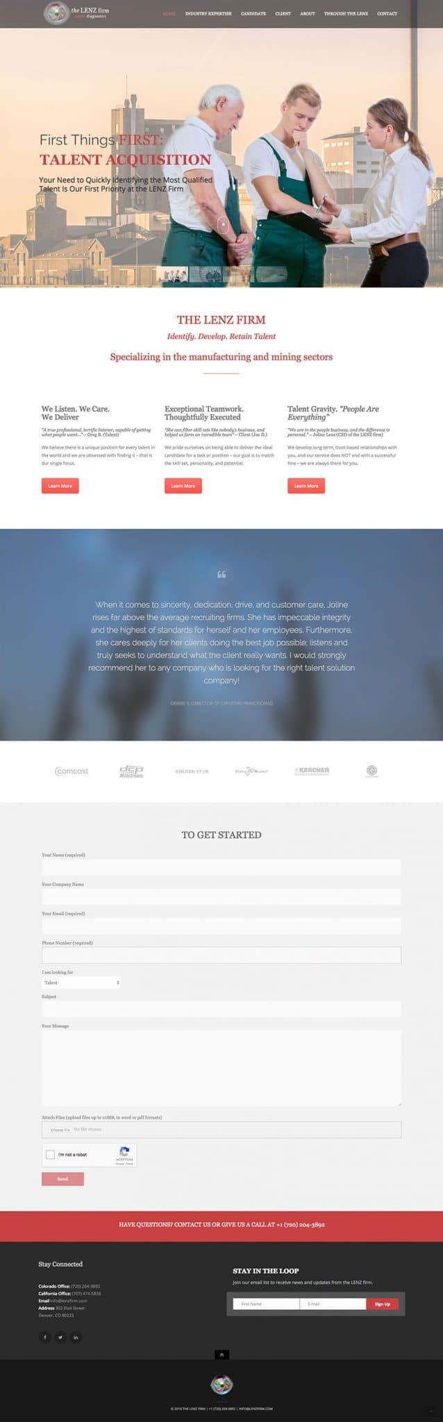 LENZ firm website