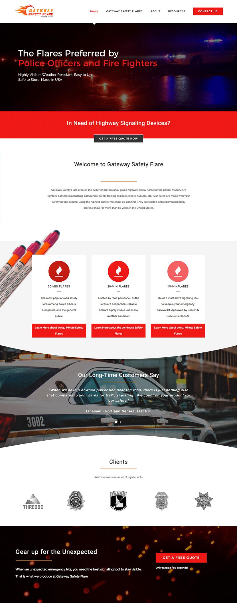 Gateway safety website