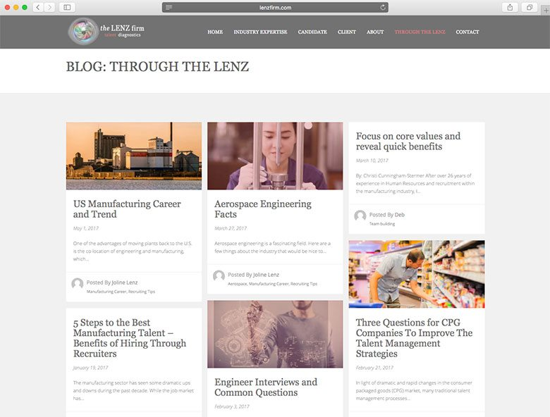 through the lenz blog
